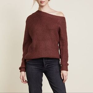 MINK PINK off the shoulder chunky sweater